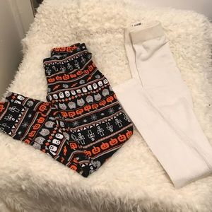 Bundle Sm No Boundaries Leggings.Halloween&White